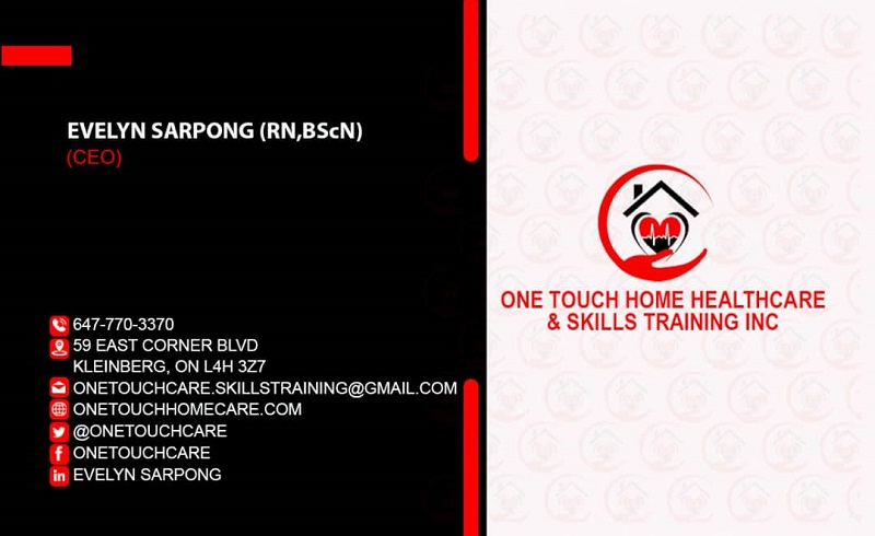 one touch biz card